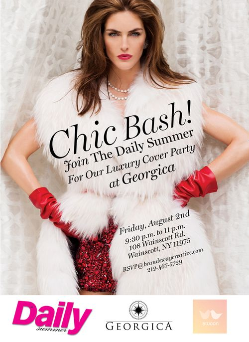 The Dialy FrontRow Celebrates Hilary Rhoda Cover Aug 2 @ Georgica
