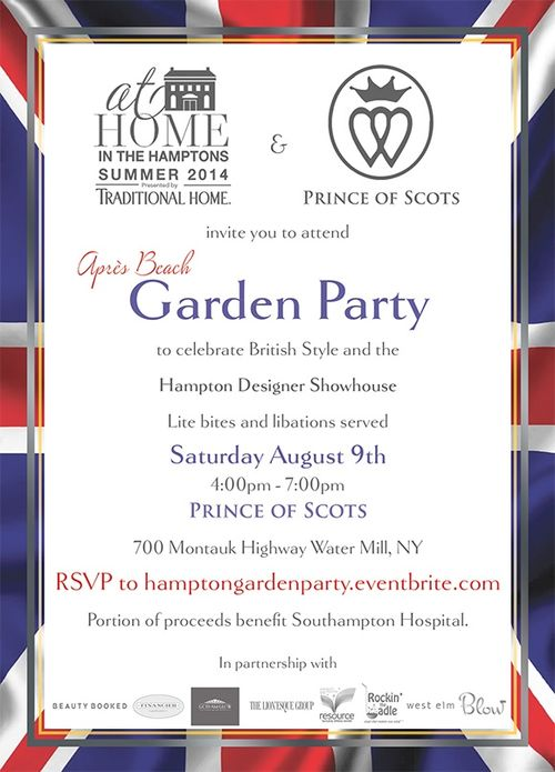 At Home in the Hamptons & Prince of Scots Garden Party Aug  9 @ Prince of Scots