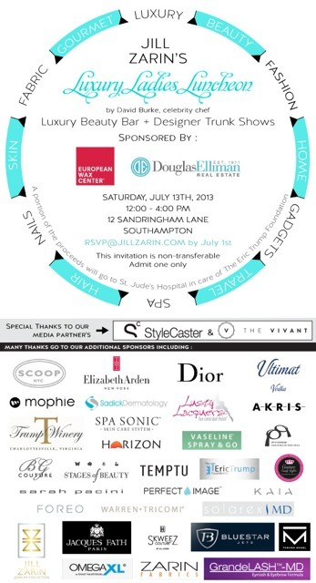 Jill Zarin's Luxury Ladies Lunch July 14 @ Private Residence