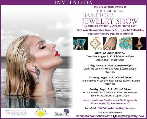 The (Inaugural) Hamptons Jewelry Show Aug. 2-5 @ Southampton Elks Fairground