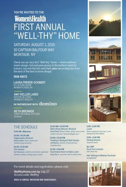 Women's Health First Annual Well-Thy Home Aug 1 @ 10 Captian Balfour Way