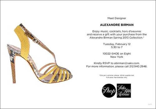 ALEXANDRE BIRMAN February 11 @ SAKS- 10022-SHOE