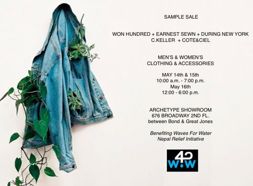 SAMPLE SALE: Archetype Men & Women's Sample Sale @ 676 Broadway