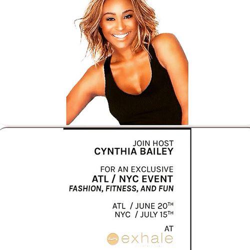 Cynthia Bailey Hosts July 15 @ Exhale Spa, NY