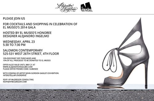 El Museo Cocktails & Shopping w/ Alejandro Ingelmo Apr 23 @ The Salomon Contemporary Gallery