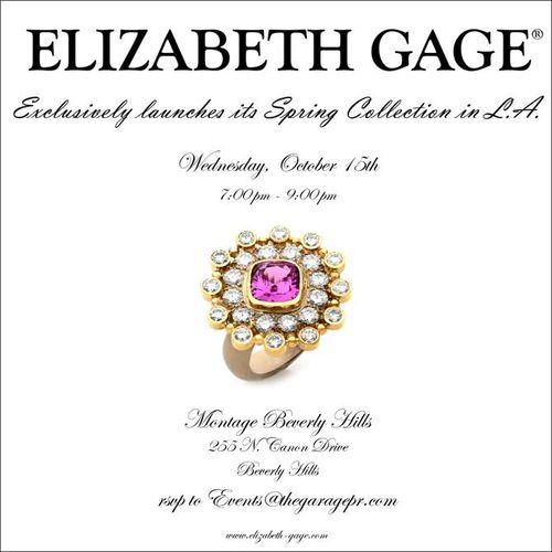 LOS ANGELES: LA Fashion Week: Elizabeth Gage Preview Oct 15 @ Montage Beverly Hills