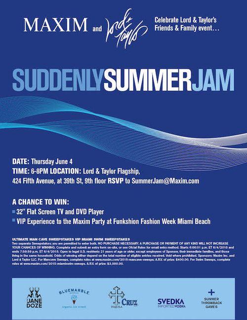 MAXIM Suddenly Summer Jam June 4 @ Lord & Taylor