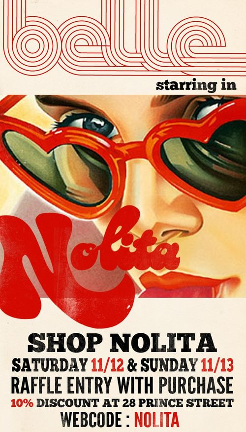 Shop Nolita Shopping Event Nov 12-13 @ Shop Nolita