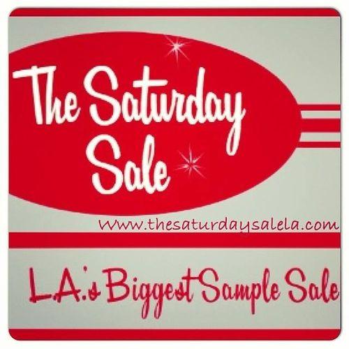 SAMPLE SALE: The Saturday Sale LA Nov 15 @ California Market Center