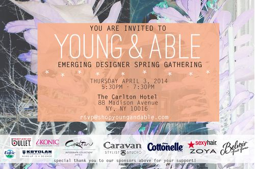 TRUNK SHOW: Caravan Stylist Studio Celebrates w/ YOUNG & ABLE Apr 3 @ Carlton Hotel