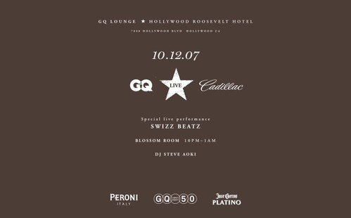 GQ Lounge Oct 12th @ Hollywood Roosevelt Hotel
