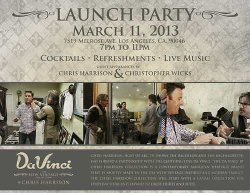 DaVinci Launch Party Mar 11 @ English Laundry