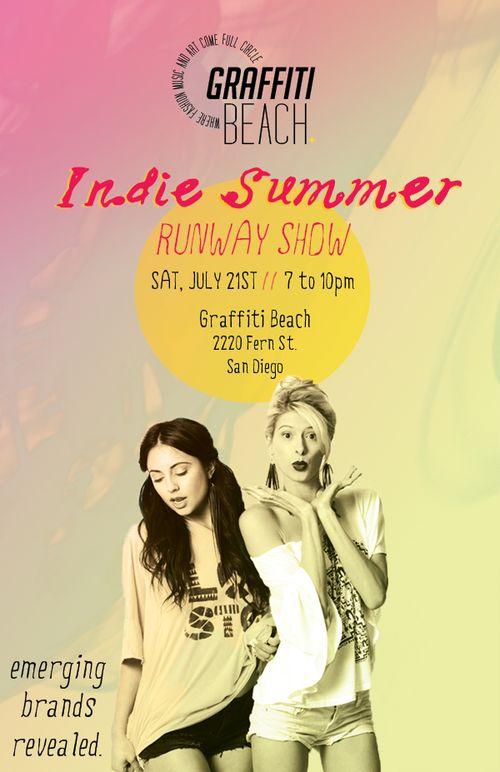 Graffitti Beach Indie Summer Runway Show July 21st @ Graffitri Beach