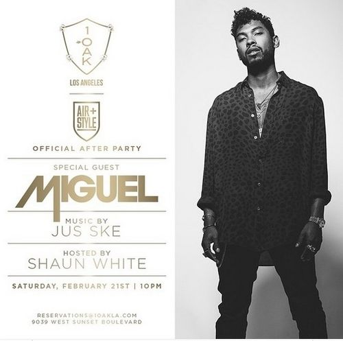 Official After Party w/ Special Guest Miguel Feb 21 @1OAKLA