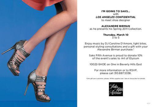 LA Confidential + Shoe Designer Alexandre Birman  Mar 16 @ SAKS