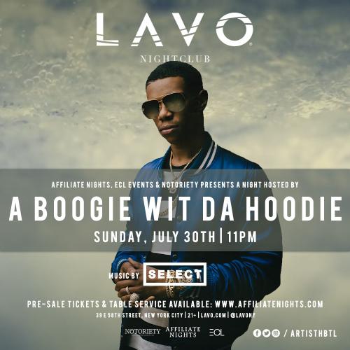NEW YORK: Boogie Wit Da Hoodie Jul 30 @ LAVO NY