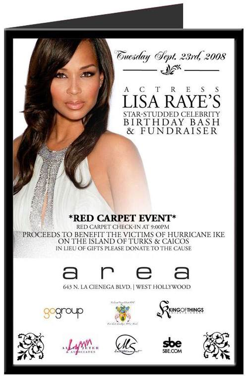Actress Lisa Raye's  Birthday Celebration & Fundraiser @ Area