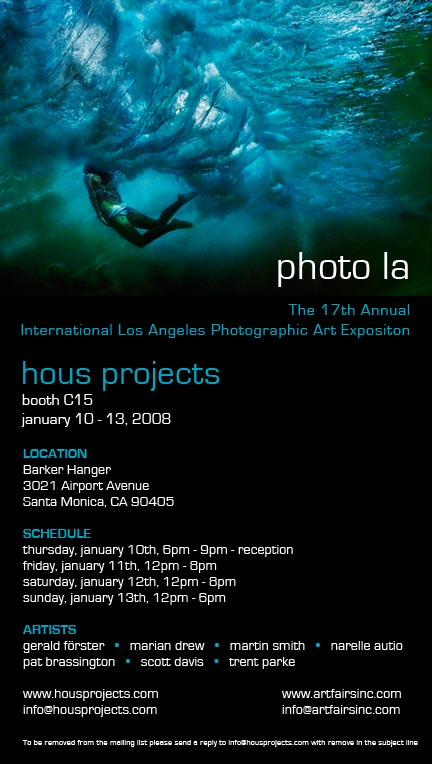 Photo LA- The 17th Annual International Loas Angeles Photographic Art Expo Jan 10th @ Hous Projects
