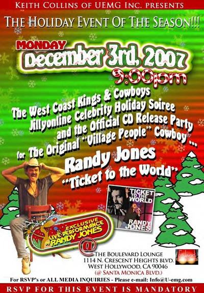 West Coast Kings & Cowboys Soiree Dec 3rd @ Boulevard Lounge