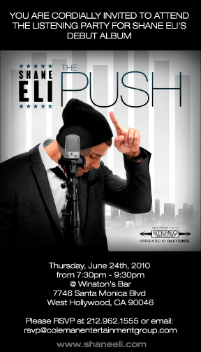 Shane Eli Listening Party June 24th @ Winston's Bar