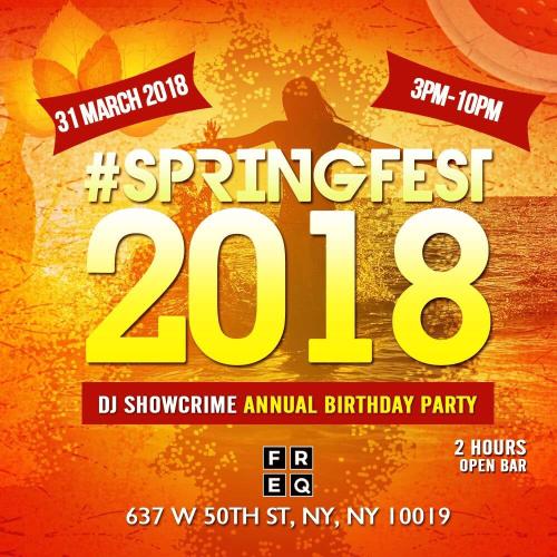 NEW YORK: Springfest 2018 Mar 18 @ FREQ