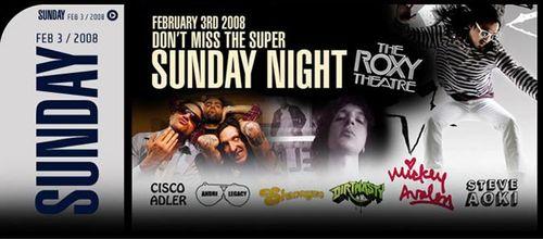 Super Sunday Night Feb 3rd @ Roxy Theater,  Scottsdale Waterfront-AZ