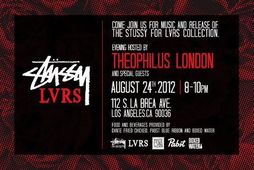 Official Release of The Stussy for LVRS Collection Aug 24 @ Stussy