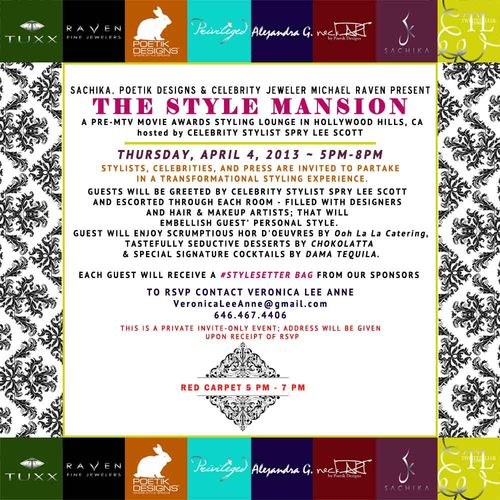 The Style Mansion  April 4 @  Location TBA