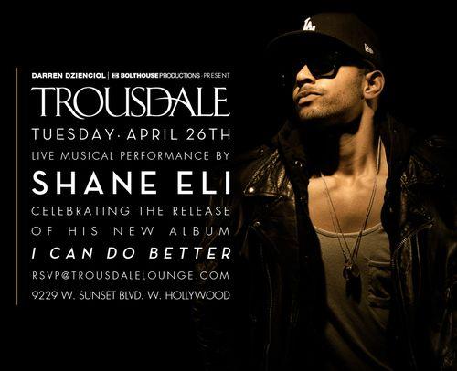 Shane Eli Listening Party April 26 @ Troudale