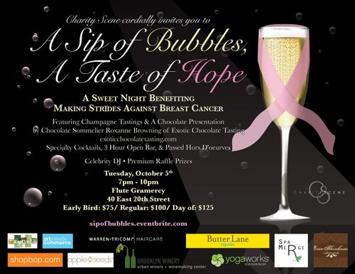 A Taste of Hope benefiting Making Strides Against Breast Cancer Oct 5 @ Flute