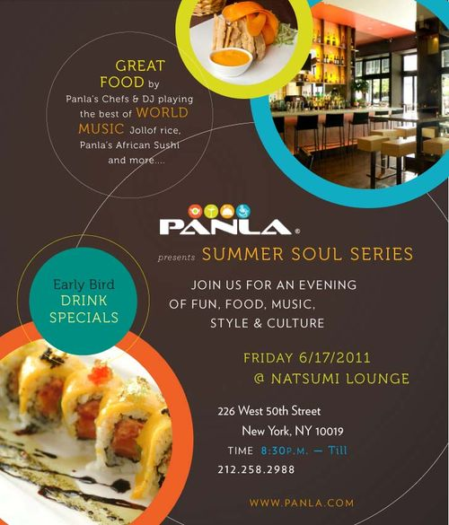 Panla Summer Soul Series June 17 @ Natsumi Lounge