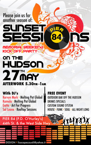 Sunset Sessions May 27 @ Pier 84